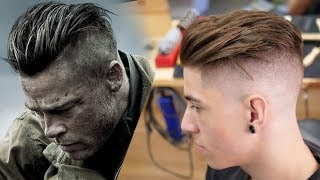 Download Brad Pitt hair from FURY | Men's Hair Inspiration 2018 Video