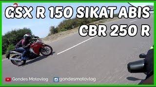Download Drag GSX R 150 VS Honda CBR 250 R Video