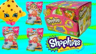 Download Season 1 Shopkins Plush Hangers Box of Surprise Blind Bags Full Set of 5 - Cookieswirlc Videos Video
