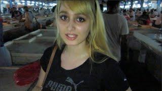 Download Girl visits Fish Market in Dubai Video