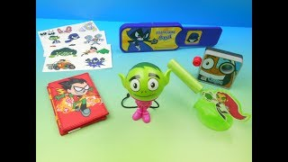 Download 2017 TEEN TITANS GO! TRICKS SET OF 6 SONIC DRIVE IN KIDS MEAL TOYS VIDEO REVIEW Video