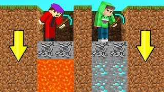 Download MINECRAFT But You Can ONLY DIG STRAIGHT DOWN! (Impossible) Video