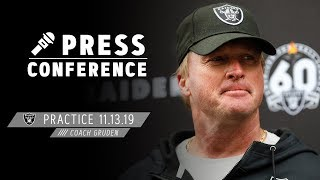 Download Coach Gruden on Facing the Bengals & Dion Jordan's First Practice | Raiders Video