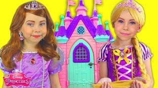 Download Kids Makeup Sofia The First & Rapunzel Dresses Disney Princess Pretend Play in Playhouse & DRESS UP Video