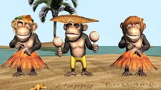Download Funny Happy Birthday Song. Monkeys sing Happy Birthday To You Video
