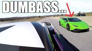 Download COCKY Lambo Gets DESTROYED By A 700HP Corvette LOL Video