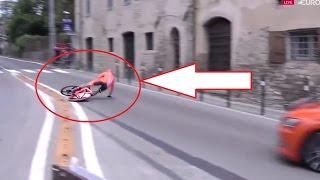 Download Giro d'Italia 2017   stage 10   Nairo Quintana soo close to Crash   CCC Crash Video