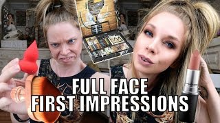 Download FULL FACE FIRST IMPRESSIONS! TESTING NEW MAKEUP! Video