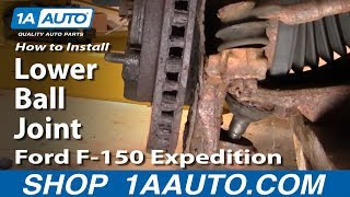 Download PART 1 How To Install Replace Lower Ball Joint 97-03 Ford F-150 Expedition 1AAuto Video