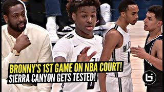 Download Bronny James FIRST Game On NBA Court w/ Dwayne Wade Watching! Sierra Canyon TESTED!? Video
