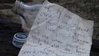 Download 5-Year-Old Boy Discovers Message in a Bottle from 27 Years Ago Video