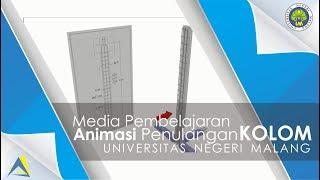 Download Media Pembelajaran Penulangan Kolom Beton Animasi 3 Dimensi Video