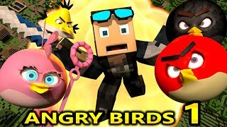 Download ANGRY BIRDS IN MINECRAFT! Minecraft Animation Game Challenge Video