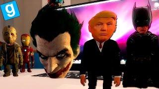 Download GARRY'S MOD | Mr PRESIDENT DONALD TRUMP vs SUPERHEROES TROLL - Gmod Gameplay Español Video
