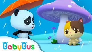Download Baby Panda's Umbrella | Baby Kitten Looks for Shelter From Rain | BabyBus Cartoon Video