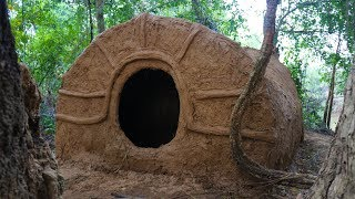 Download Primitive Tool : Build primitive mud house ( Using grass with mud ) Video