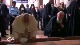 Download May 25, 2014 - Ecumenical Patriarch Bartholomew and Pope Francis Pray Together at Holy Sepulcher Video