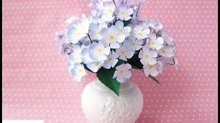 Download Vaso di Fiori di carta (home decor) - DIY Paper flowers Vase Video