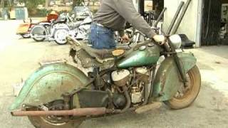 Download 1948 Indian Chief motorcycle comes back to life after 40 years Video