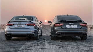 Download DRAGRACE: AUDI RS3 SEDAN vs AUDI RS7 PERFORMANCE - Who's the Audi RS king? Video