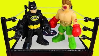 Download Imaginext First Annual Battle Wars Spider-man Batman Hulk Superman Joker Bane Riddler Marvel Video