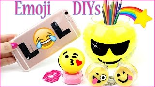 Download 5 DIY Emoji Projects YOU NEED TO TRY! Phone Case, Lip Balm, Mini Slime, Room Decor & Orbeez DIYs Video