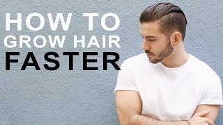 Download HOW TO GROW HAIR FASTER & LONGER | Tips to grow men's hair Video