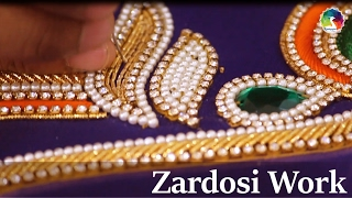 Download Zardosi Work Detailed HD Video   Indian Hand Embroidery Video