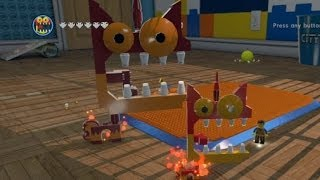 Download LEGO Movie Videogame - Golden Instruction Build #8 - Mega Kitty (Giant Angry Unikitty) Video