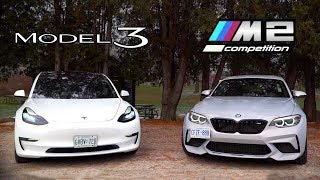 Download Tesla Model 3 vs BMW M2 Competition // The $60,000 Question Video