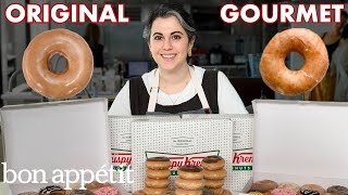 Download Pastry Chef Attempts to Make Gourmet Krispy Kreme Doughnuts | Gourmet Makes | Bon Appétit Video