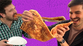 Download Friends Try Finishing One Of The World's Largest Pizza Slices Video