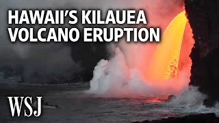 Download Lava Pours Steadily From Hawaii's Kilauea Volcano Video