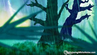 Download Forest Thunder & Rain | Sleep, Study, Meditate | Rainstorm White Noise 10 Hours Video