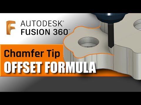 Fusion 360 Chamfer Tip Offset Formula! FF120