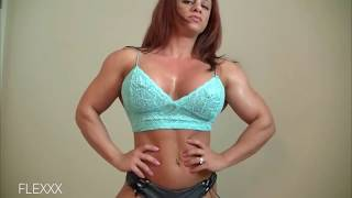 Download Beautiful Pecs and Flexing   FBB Female Bodybuilder   Muscle Women   Video