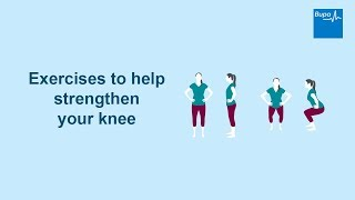 Download Exercises to help strengthen your knee Video