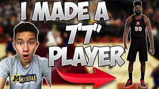 """Download I MADE A 7'7"""" CENTER!! HE CAN DUNK WITHOUT JUMPING!? - NBA 2K17 Video"""