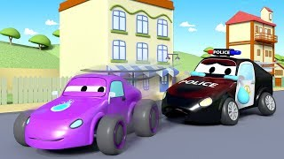 Download Mat the police Car is coughing ! - Amber the Ambulance in Car City l Cartoons for Children Video