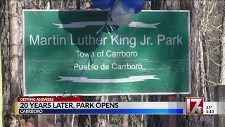 Download Carrboro cuts ribbon on park honoring Dr. Martin Luther King Jr. Video