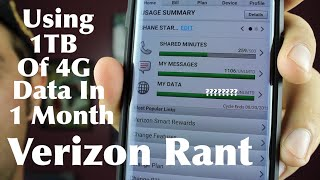 Download Using 1TB of Unlimited 4G Data In 1 Month Verizon Rant! Video