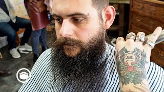 Download Wild Hair and Beard Get Tamed by Barber Video
