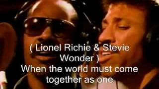 Download We are the world - USA Africa ( singer's name, lyric ) Video