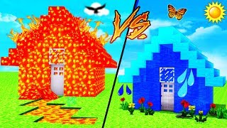 Download Minecraft - WATER HOUSE VS LAVA HOUSE Video