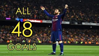 Download Lionel Messi ● All 48 Goals in 2017/18 ● Golden Boot Winner Video
