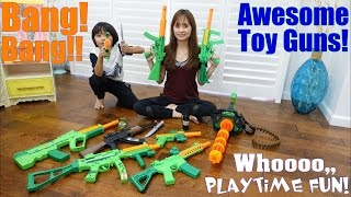 Download Toy Gun Collection! Pistols, Machine Guns, Gatling Gun and More! A Trip to a Firing Range Video