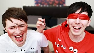 Download DAN AND PHIL BLINDFOLDED MAKEUP CHALLENGE Video