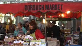 Download London foods in the Borough Market, travel eating tips Video