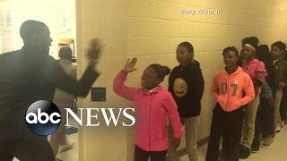 Download Teacher Has Personalized Handshakes With Every Single One of His Students Video