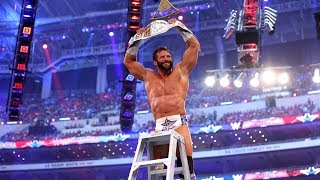 Download Zack Ryder celebrates with his dad after winning Intercontinental Championship at WrestleMania 32 Video